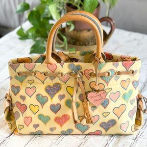 Dooney & Bourke Scribble Hearts purse